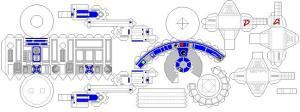 R2d2 paperbotz for R2d2 leg template