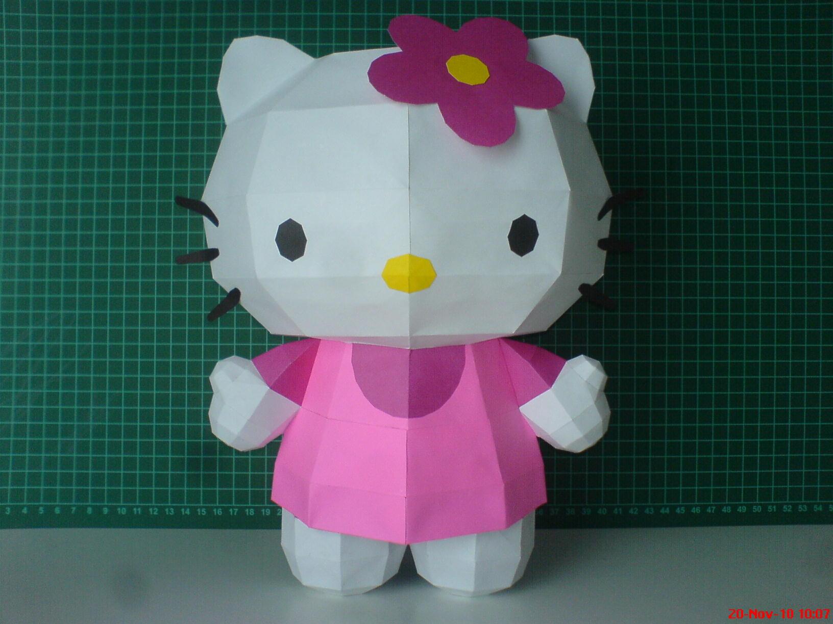 Cubeecraft hello kitty | random crafts | hello kitty, paper crafts.