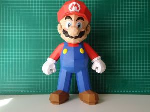 Super Mario Papercraft Dsc01043