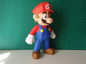 Super Mario Papercraft Dsc01045